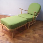 Ercol Windsor Armchair and Footstool