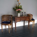 A pair of Gilt French Bergere Chairs