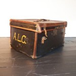Small leather bound trunk