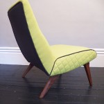 1960's upholstered Cocktail Chair
